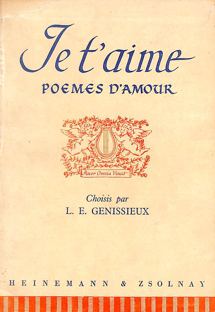 Image for Je T'Aime Poemes D'Amour