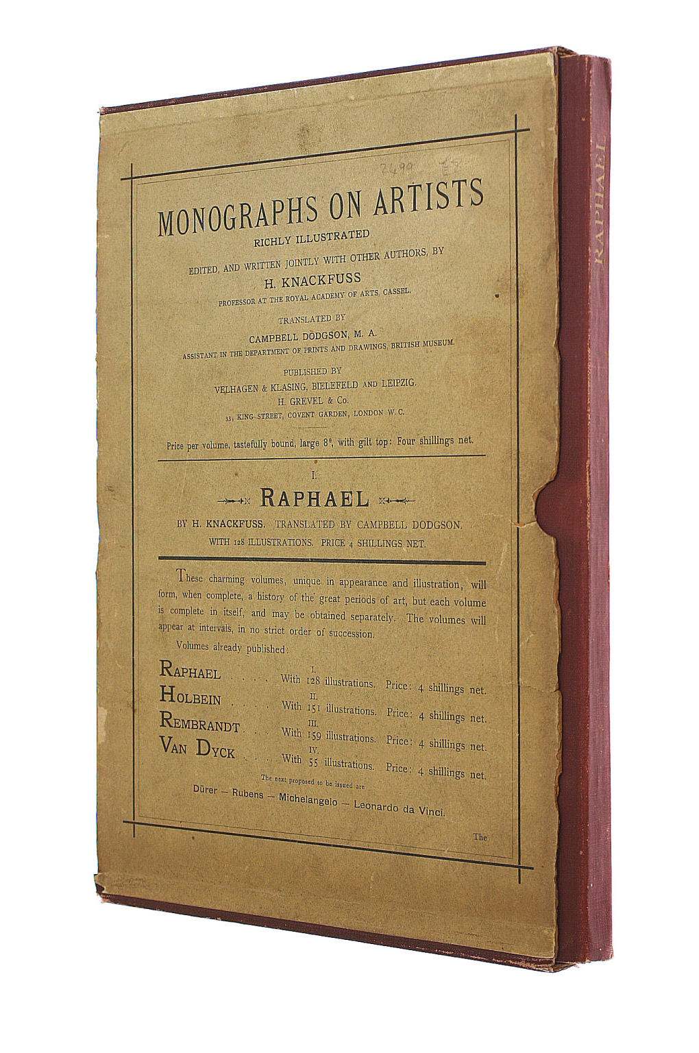 Image for Monographs on Artists: Raphael