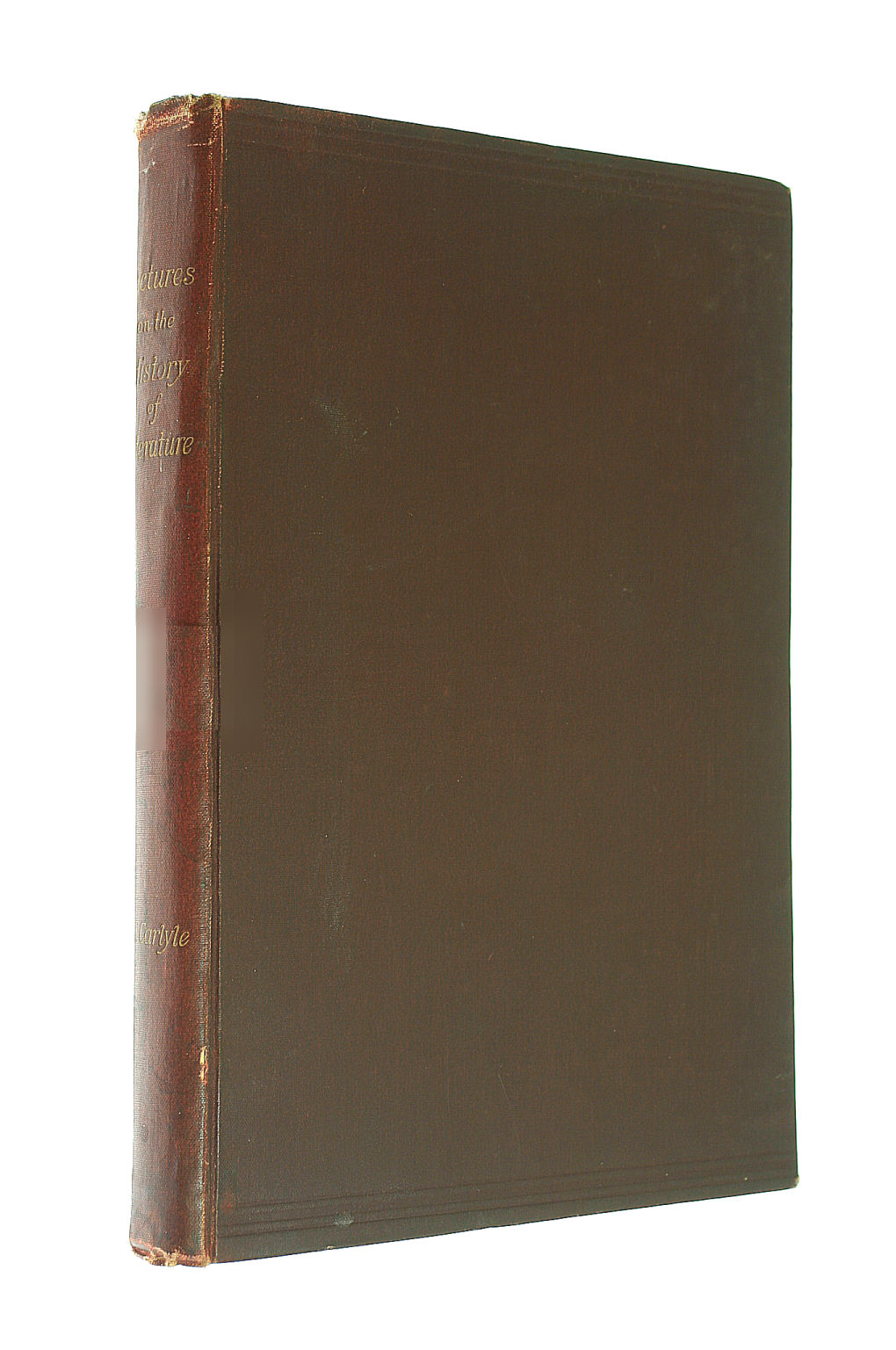 Image for Lectures On The History Of Literature: Or The Successive Periods Of European Culture: Delivered In 1838 by Carlyle