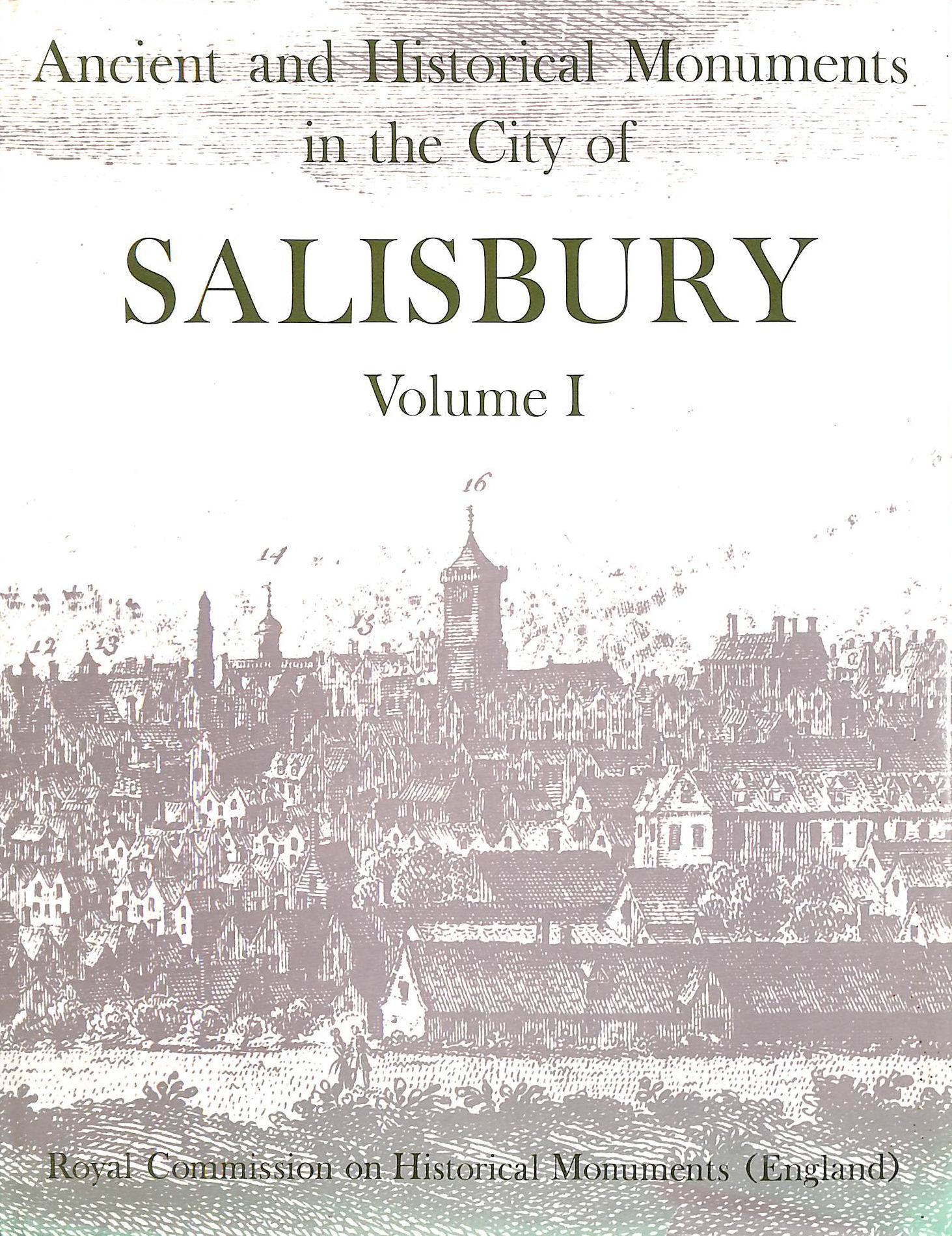 Image for Inventory of the Historical Monuments in the City of Salisbury: v. 1