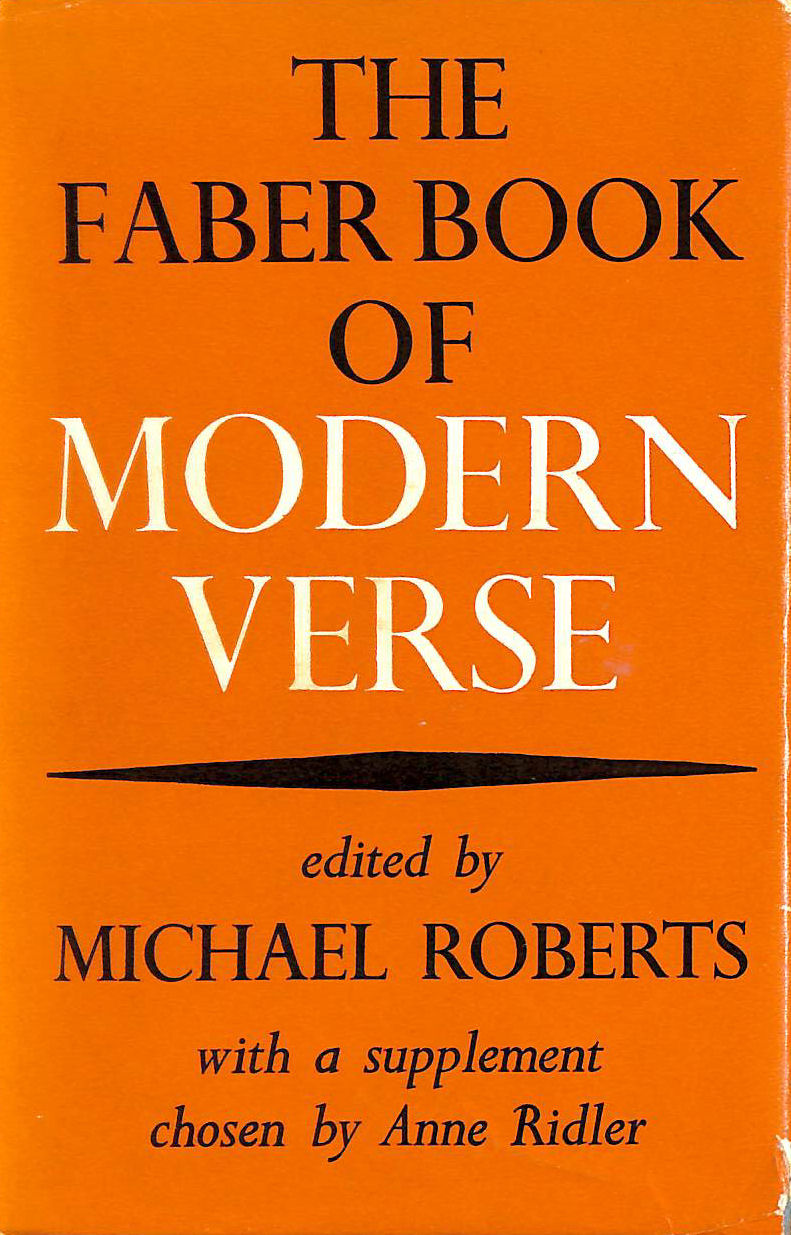 Image for The Faber Book Of Modern Verse
