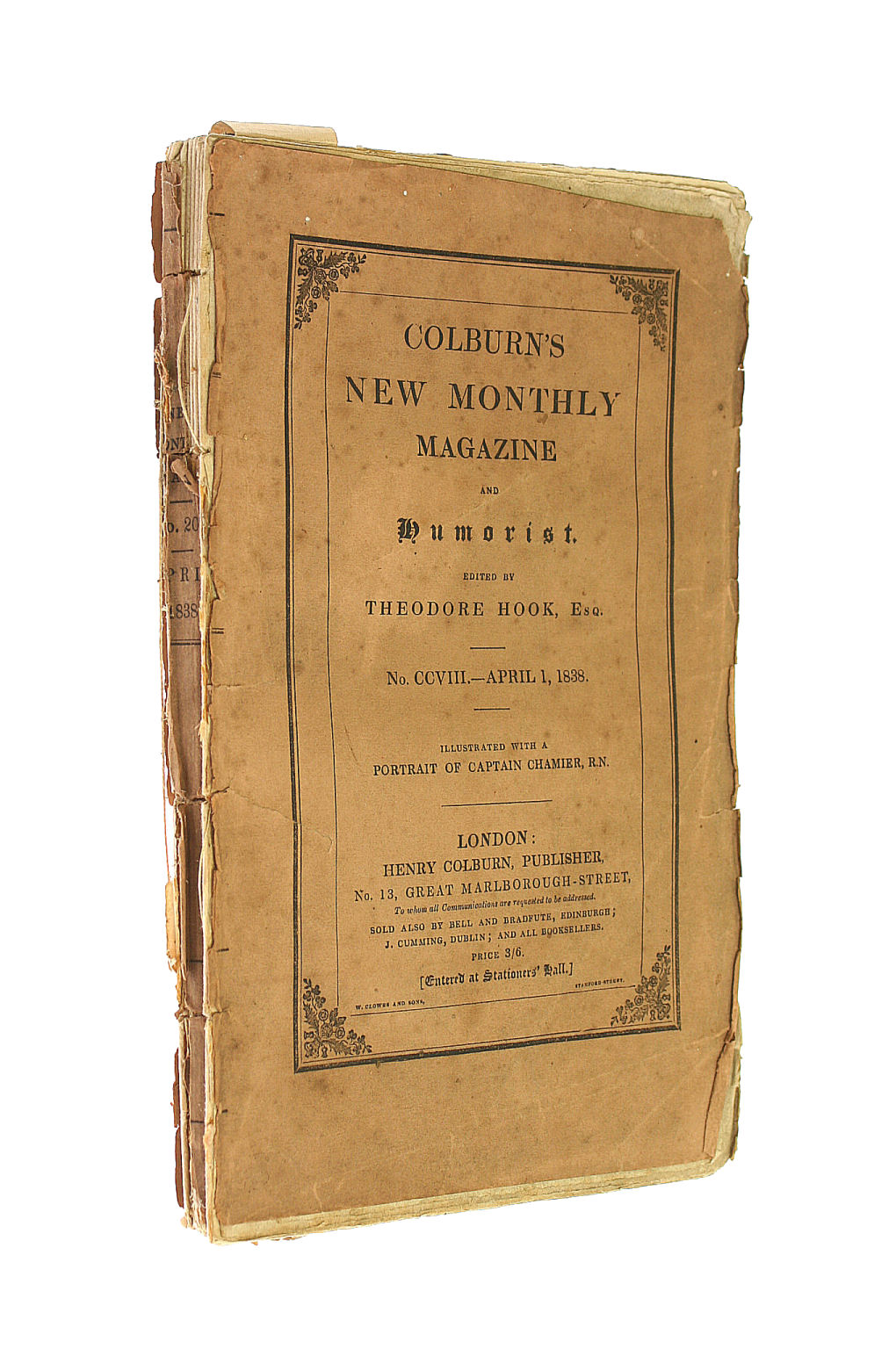 Image for Colburn's New Monthly Magazine No CCVIII April 1 1838