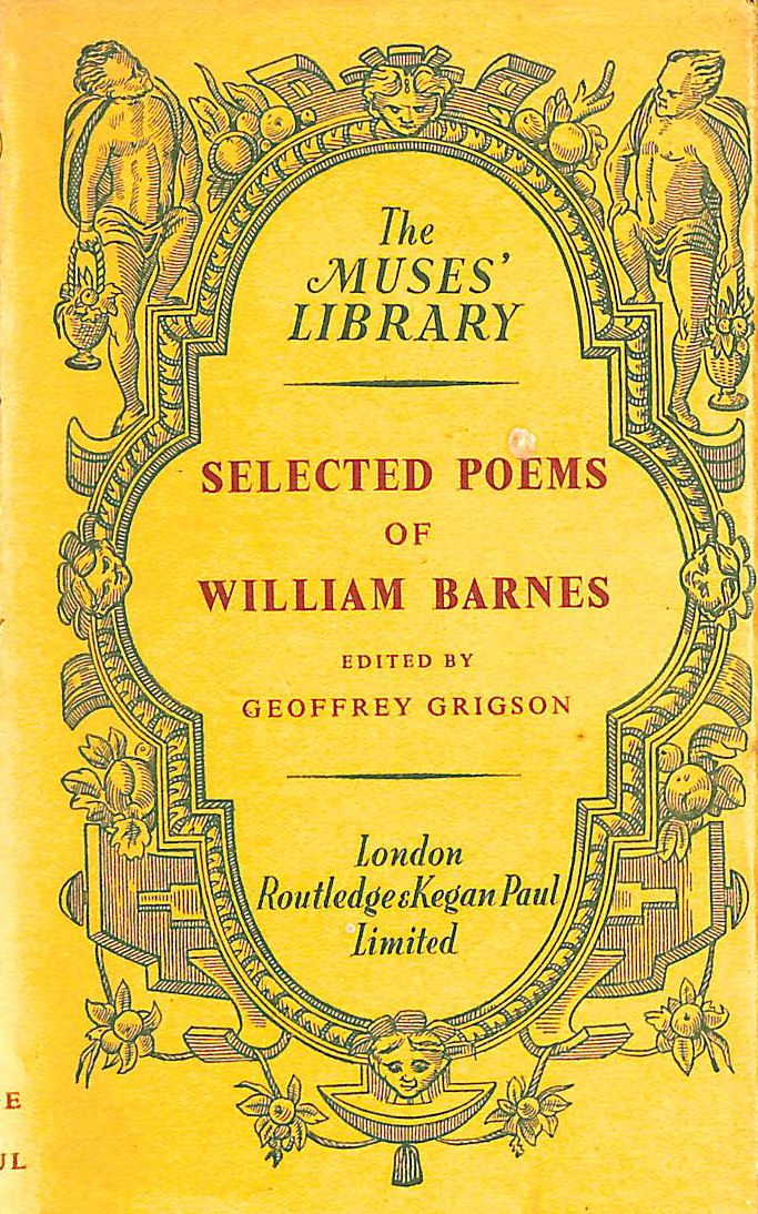 Image for Selected Poems of William Barnes 1800-1886: Edited with an Introduction By Geoffrey Grigson