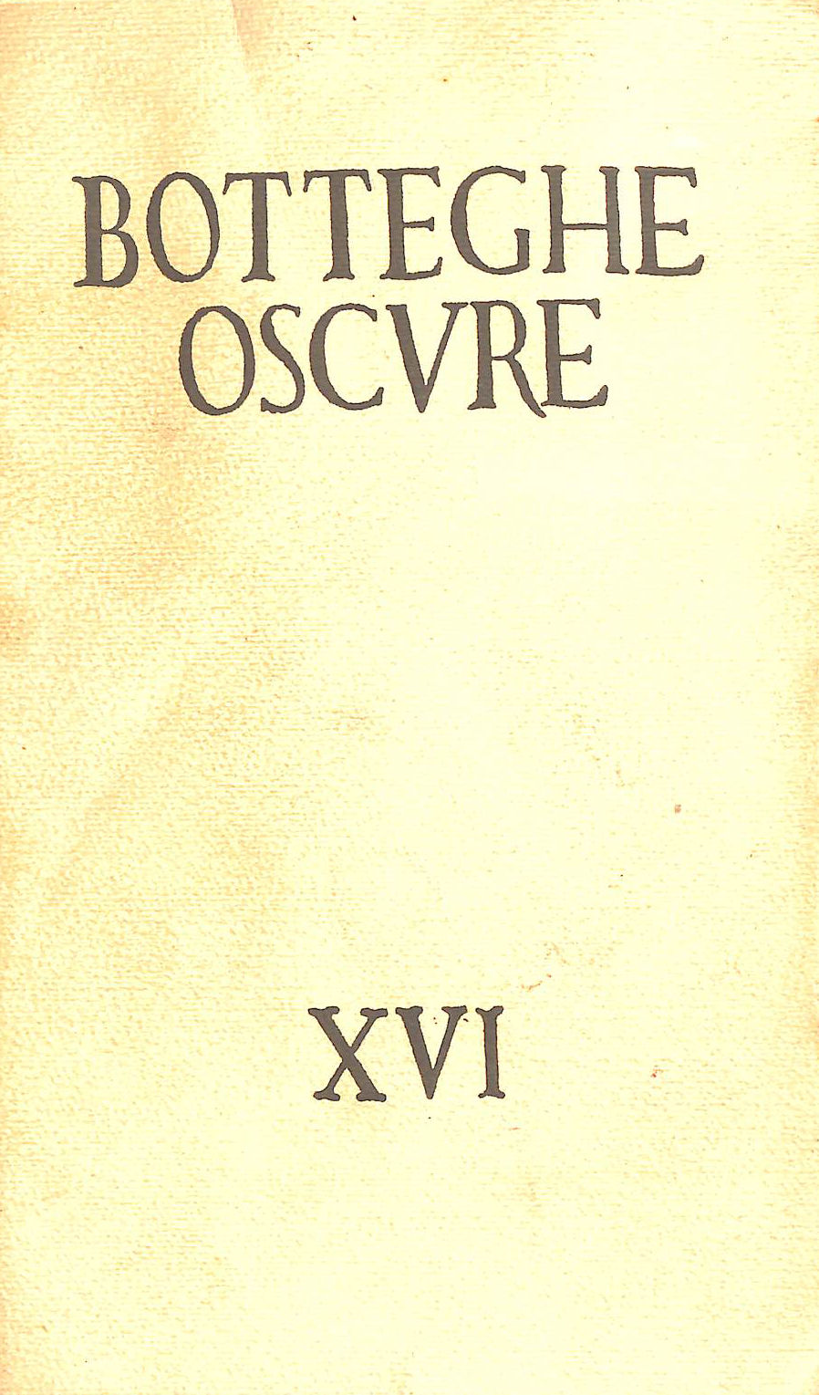 Image for Botteghe Oscure. 1955, Quaderno n. XVI