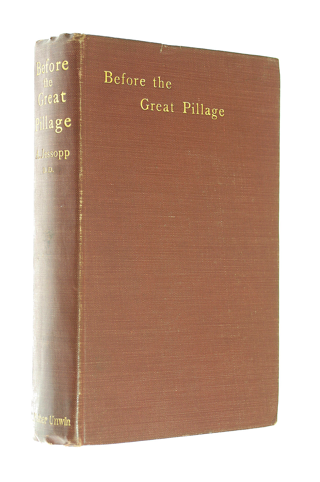 Image for BEFORE THE GREAT PILLAGE: WITH OTHER MISCELLANIES.