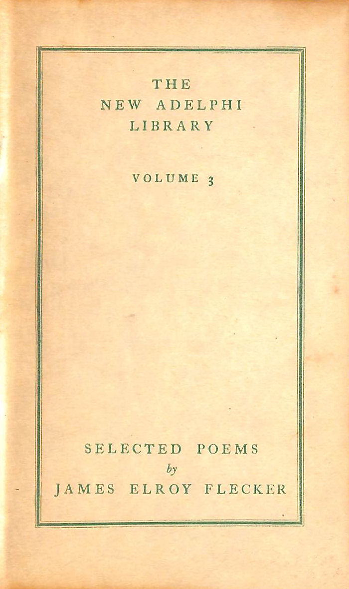 Image for Selected poems (The new Adelphi library)