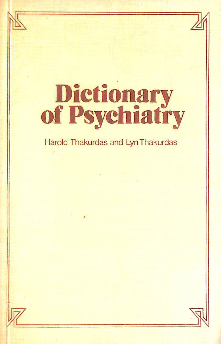 Image for Dictionary of Psychiatry