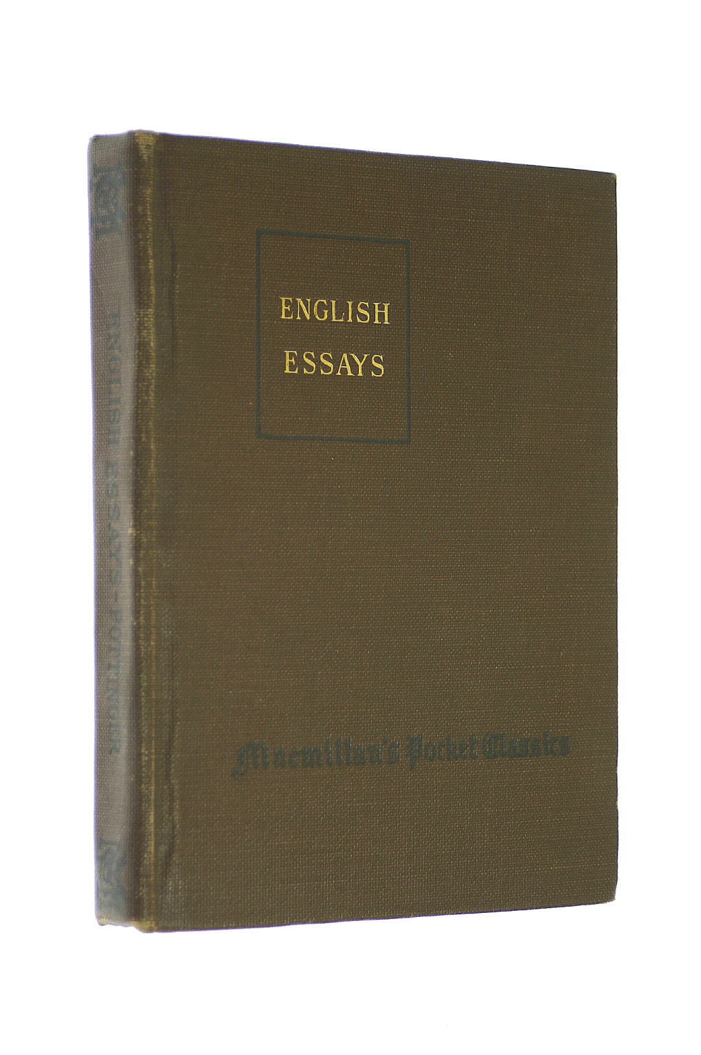 Image for English essays: An anthology of essays from Bacon to Lucas; ed. with introduction and notes (Macmillan pocket classics)