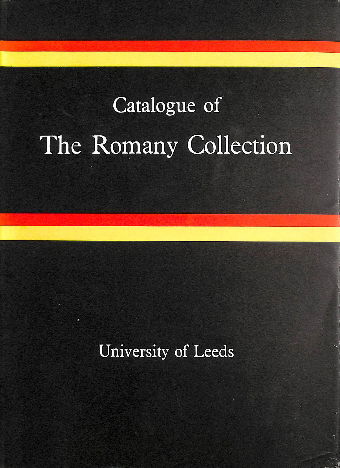 Image for Catalogue of the Romany Collection formed by D.U.McGrigor Phillips