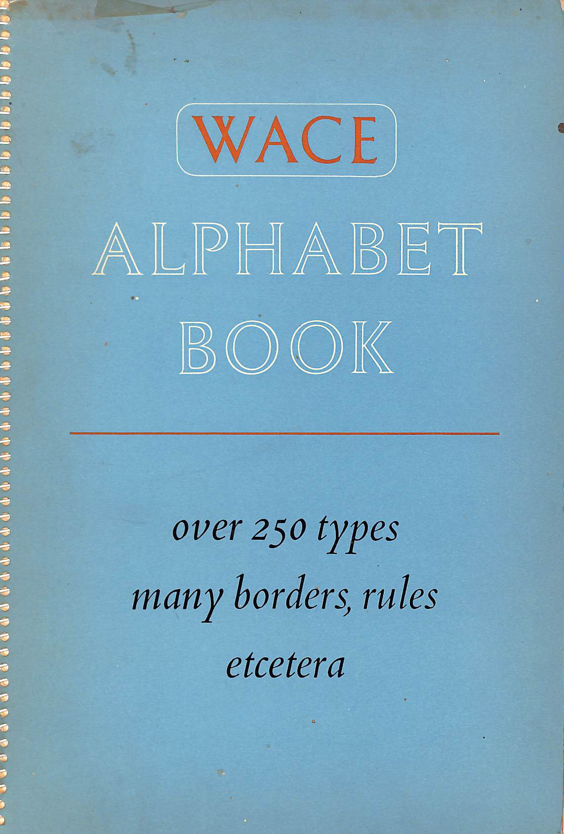 Image for WACE Alphabet Book ~ over 250 types, many borders, rules etcetera