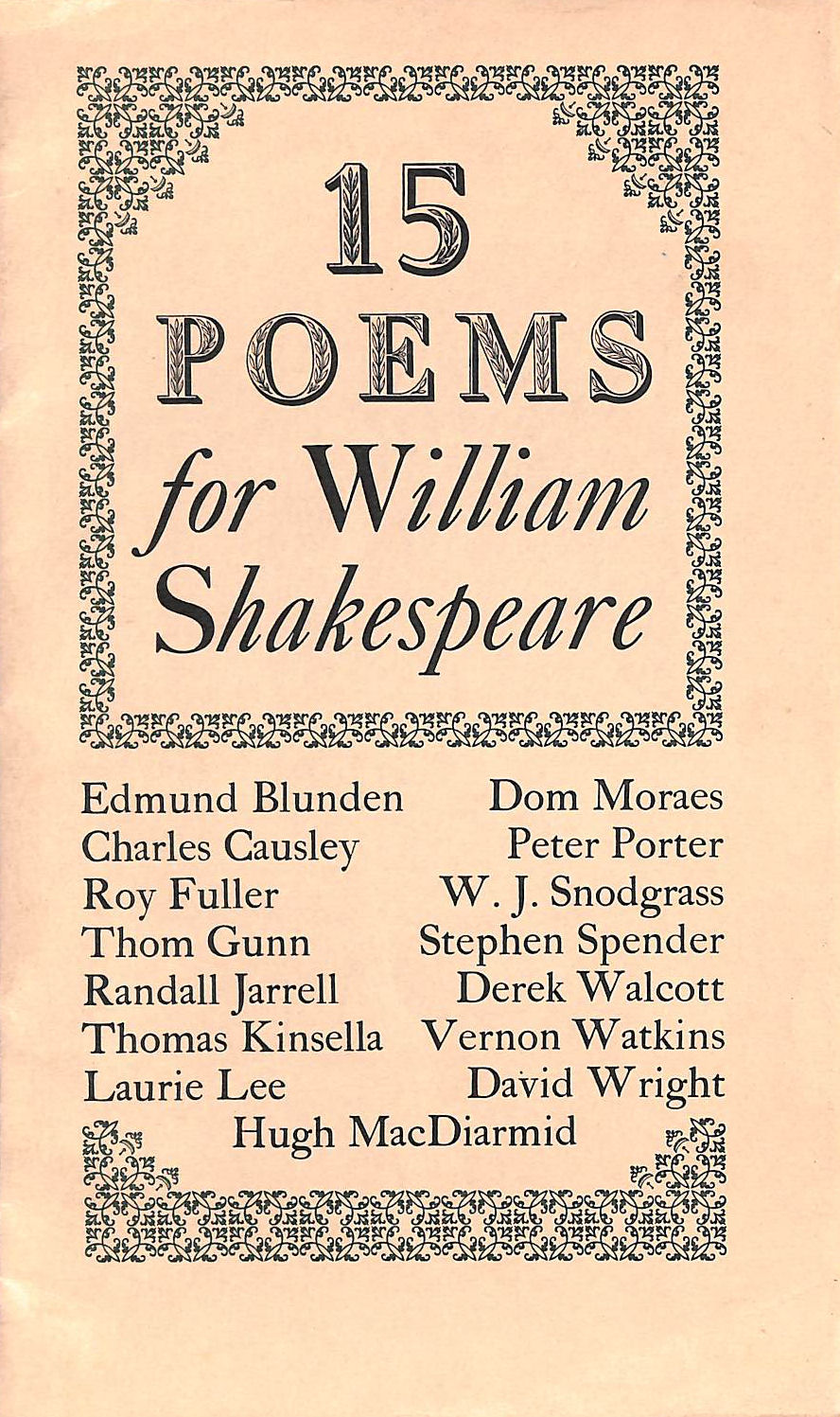 Image for 15 Poems For William Shakespeare.
