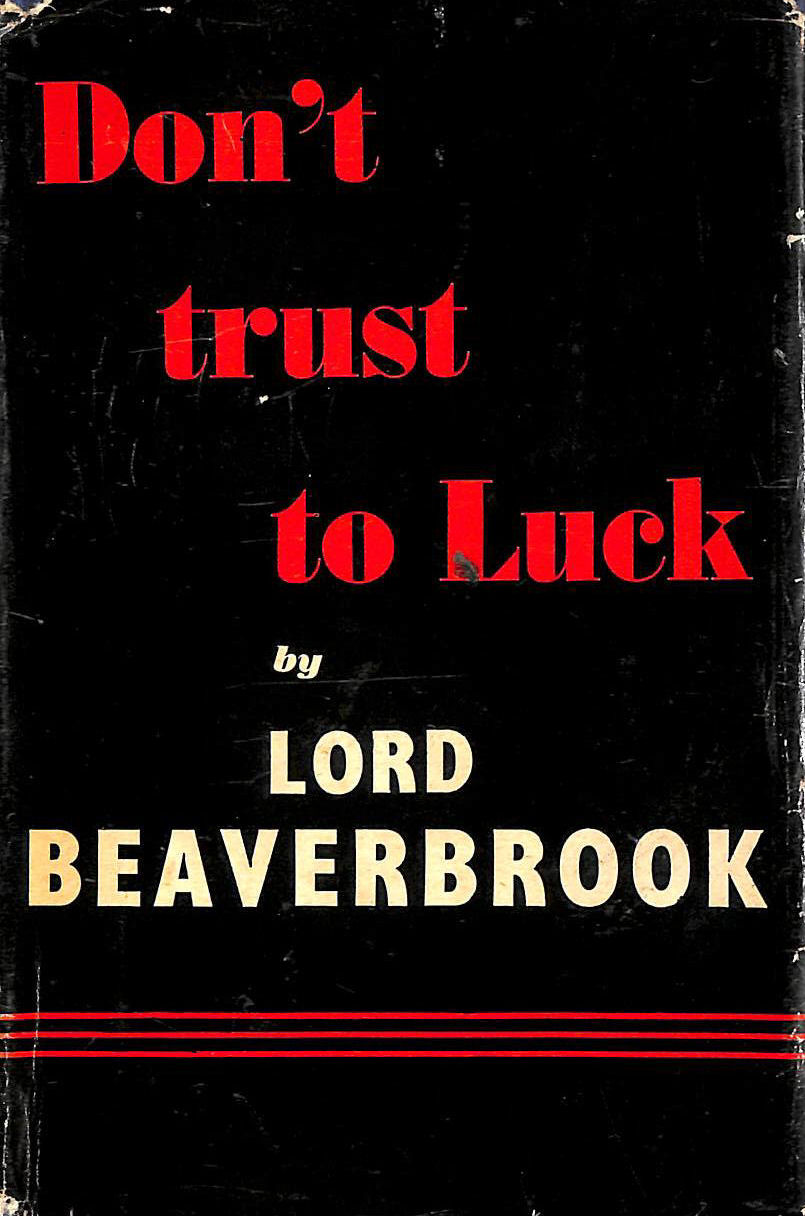 "Image for Don""t Trust to Luck"