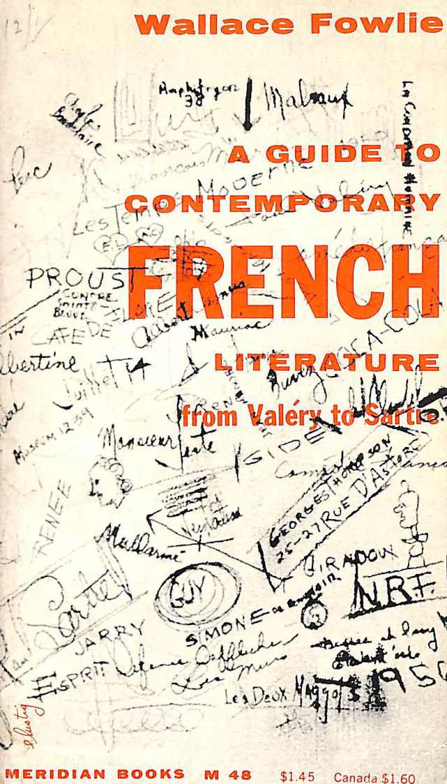 Image for A guide to contemporary French literature: From Valery to Sartre (Meridian books, M48)