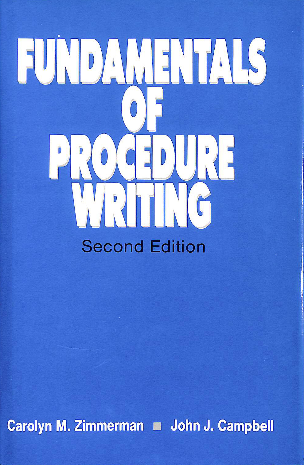 Image for Fundamentals of Procedure Writing