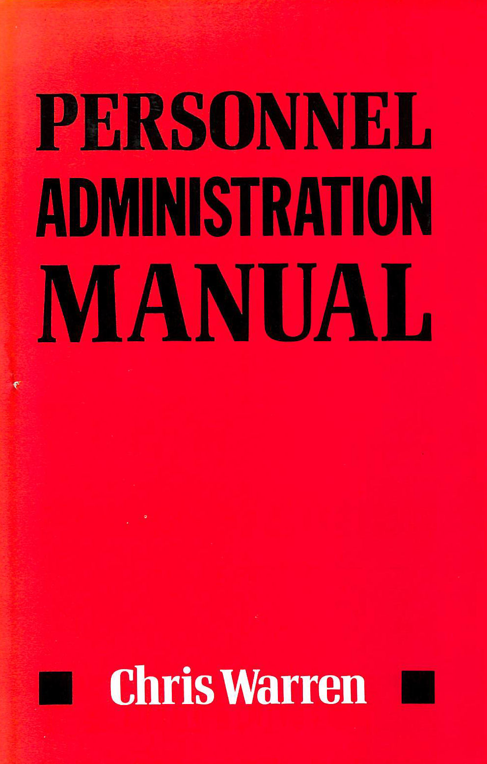 Image for Personnel Administration Manual