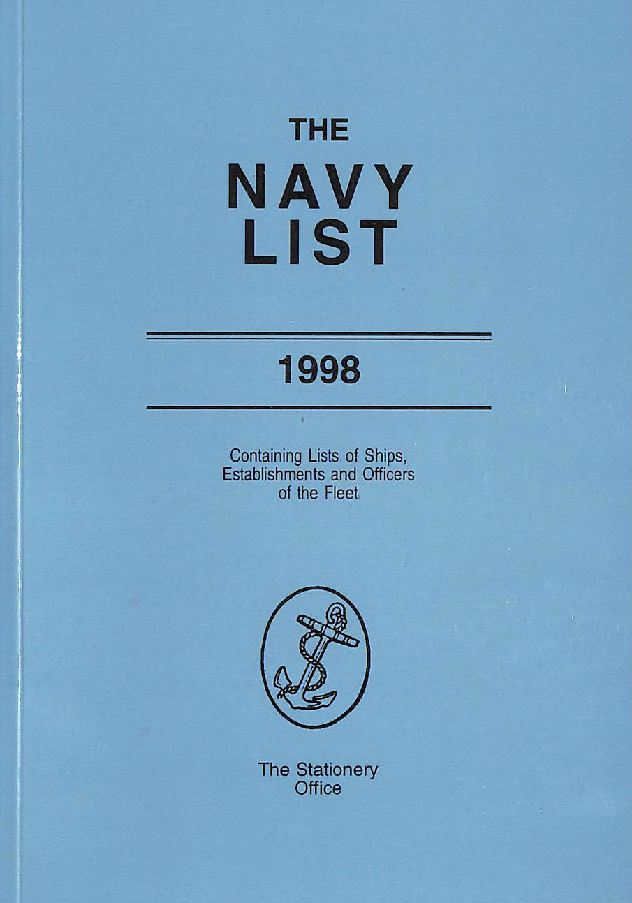 Image for The Navy List: Containing Lists of Ships, Establishments and Officers of the Fleet