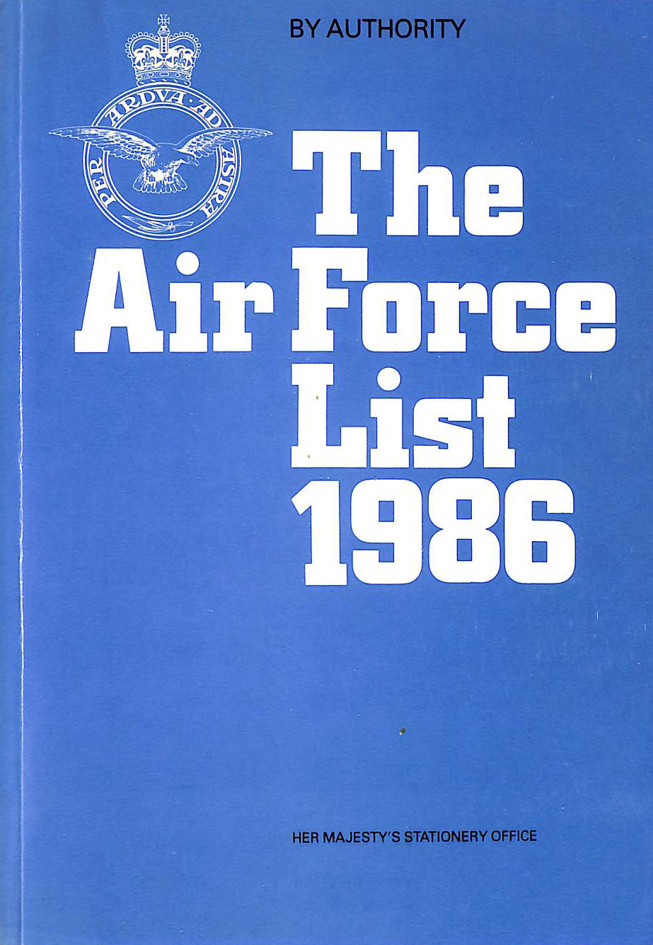 Image for The Air Force List 1986