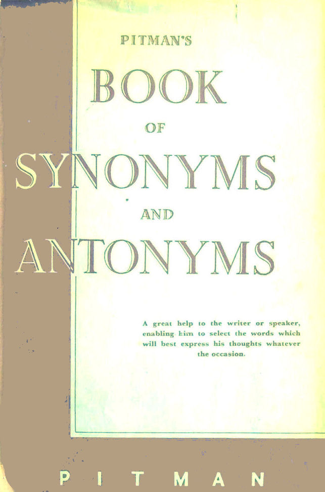Image for Pitman's Book of Synonyms and Antonyms