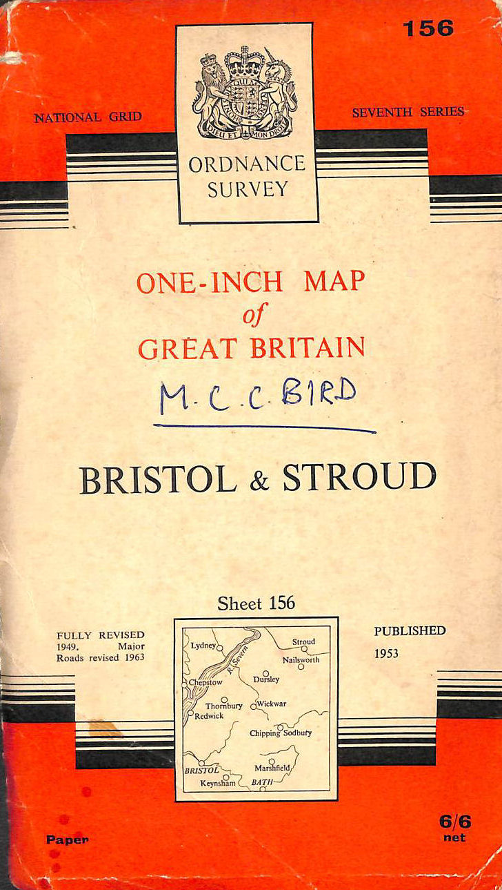 Image for Bristol and Stroud. Ordnance Survey One-inch Map. Sheet 156 . 1953, with Corrections to 1963.