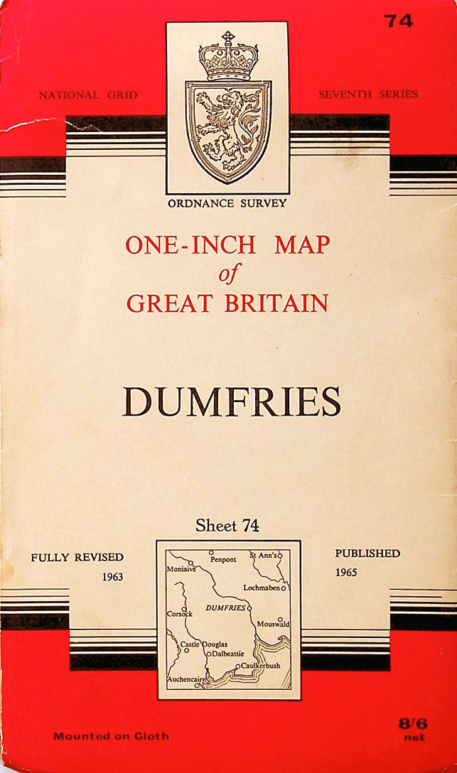 Image for Ordnance Survey One-Inch Map Sheet 74 Dumfries