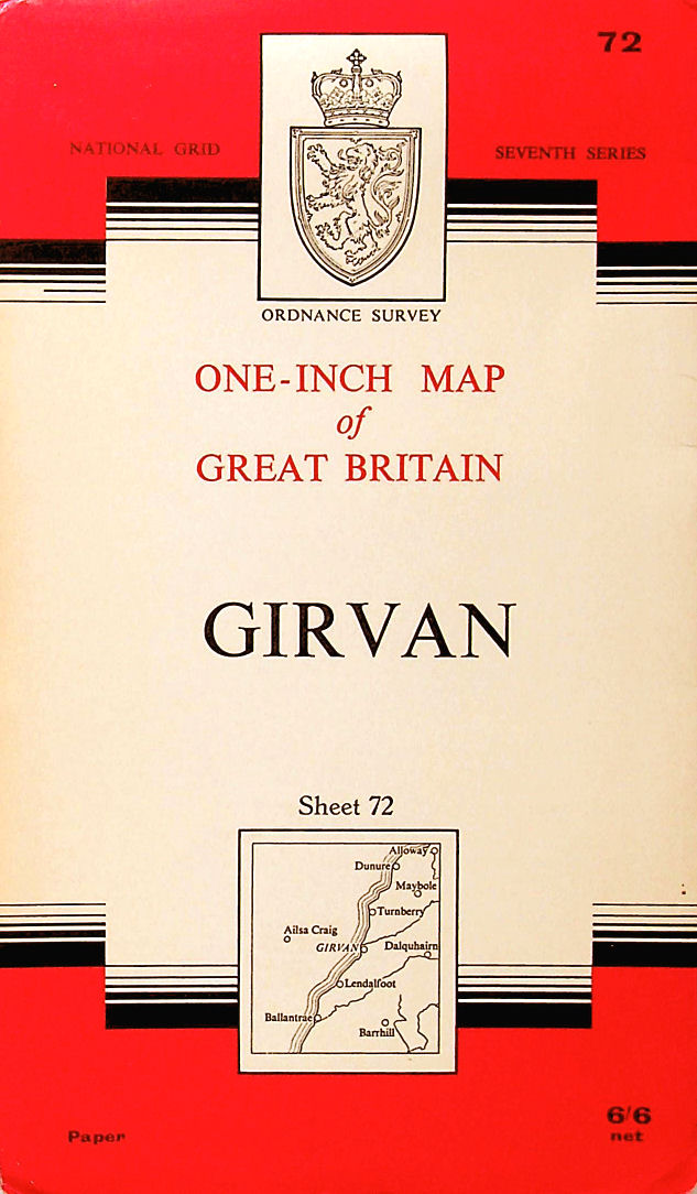 Image for Ordnance Survey One-inch Map of Great Britain ( Seventh Series ) : Girvan, Sheet 72