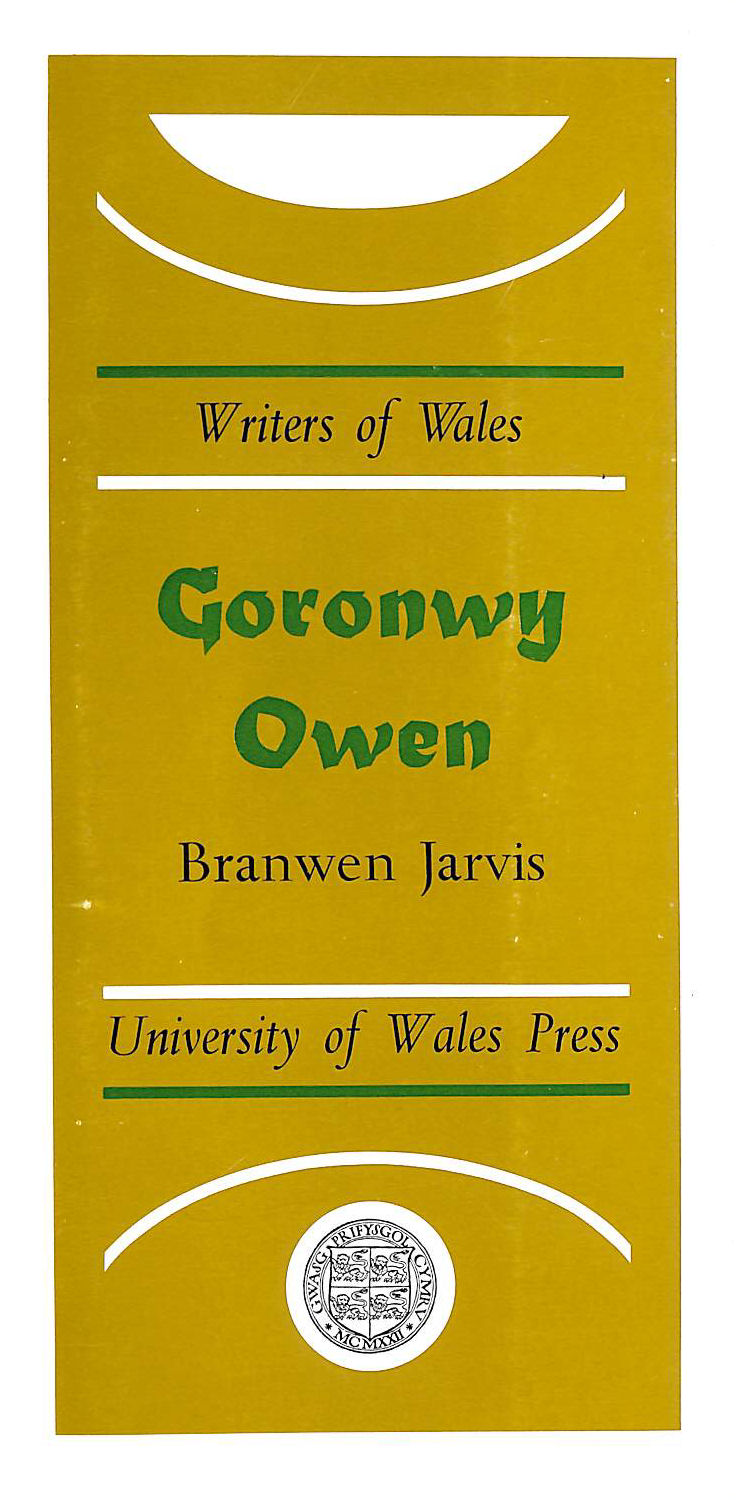 Image for Goronwy Owen (Writers of Wales)