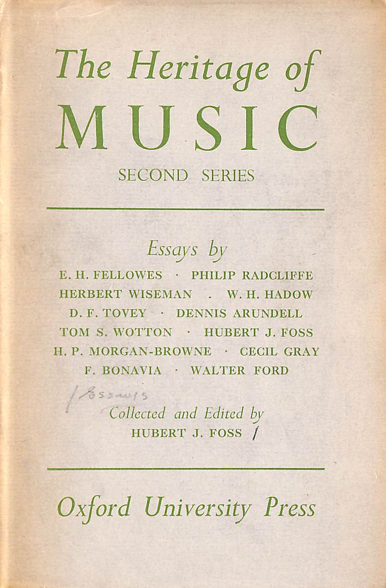 Image for The Heritage of Music: second Series