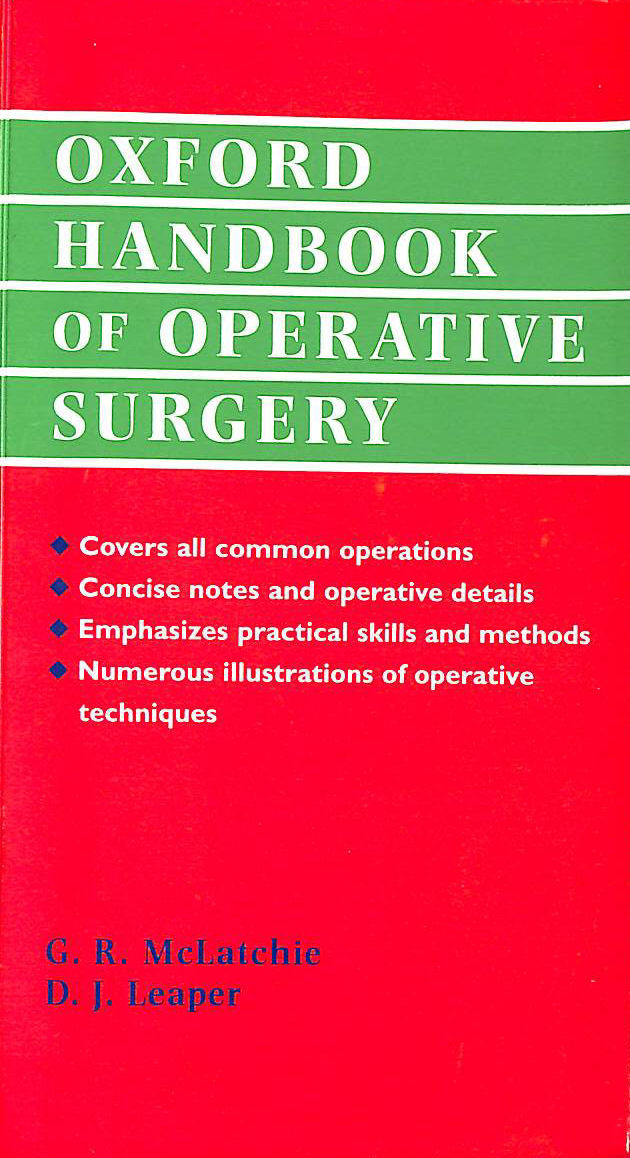 Image for Oxford Handbook of Operative Surgery (Oxford Handbooks)