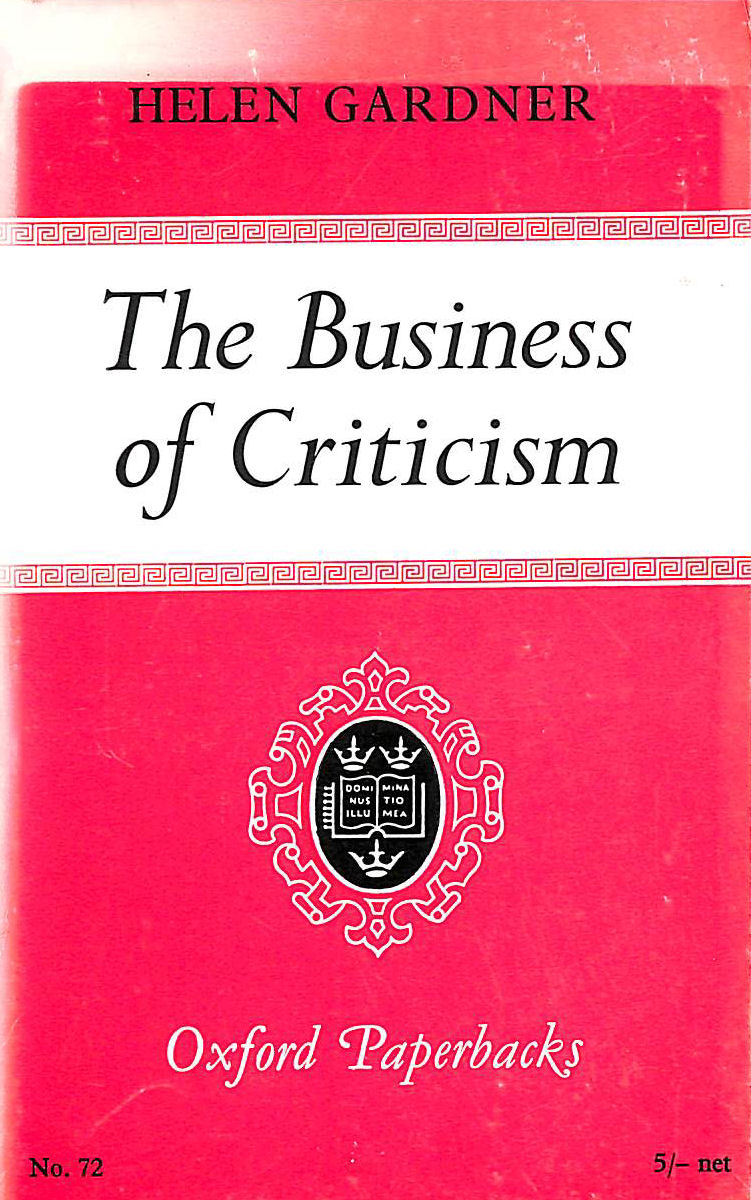 Image for Business of Criticism (Oxford Paperbacks)