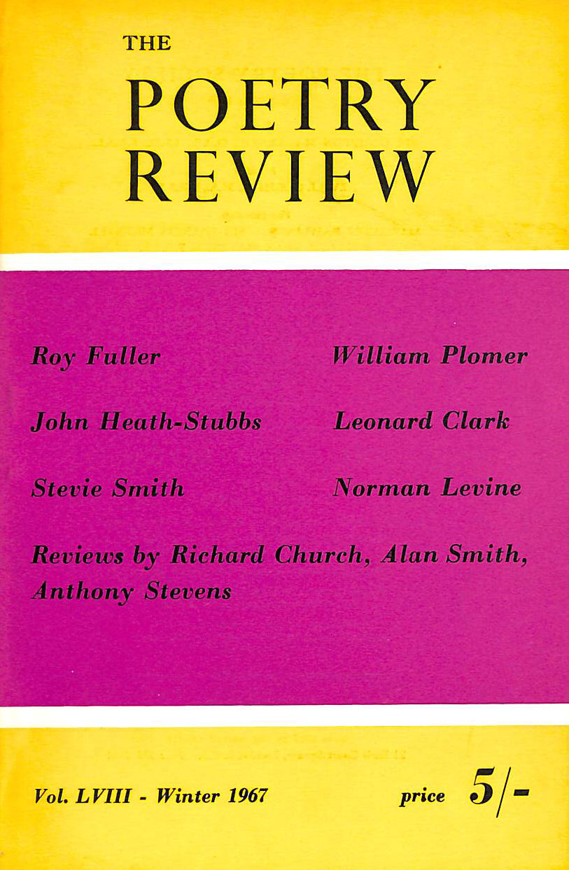 Image for The Poetry Review: Volume LVIII. Number 4. Winter 1967