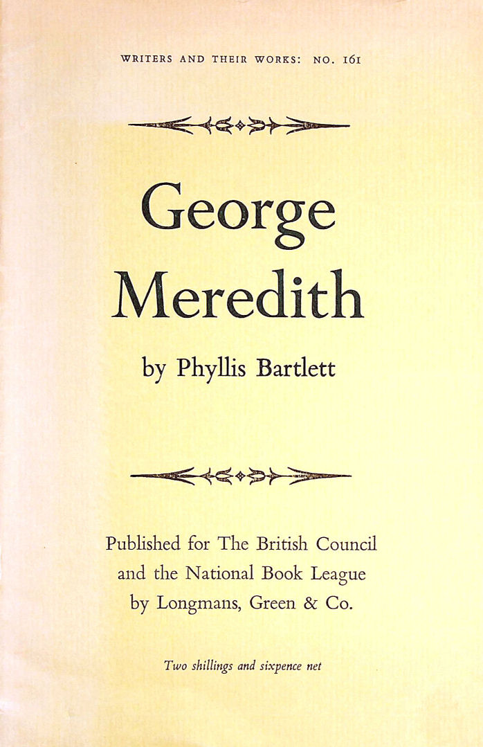 Image for George Meredith. Writers and Their Work No. 161