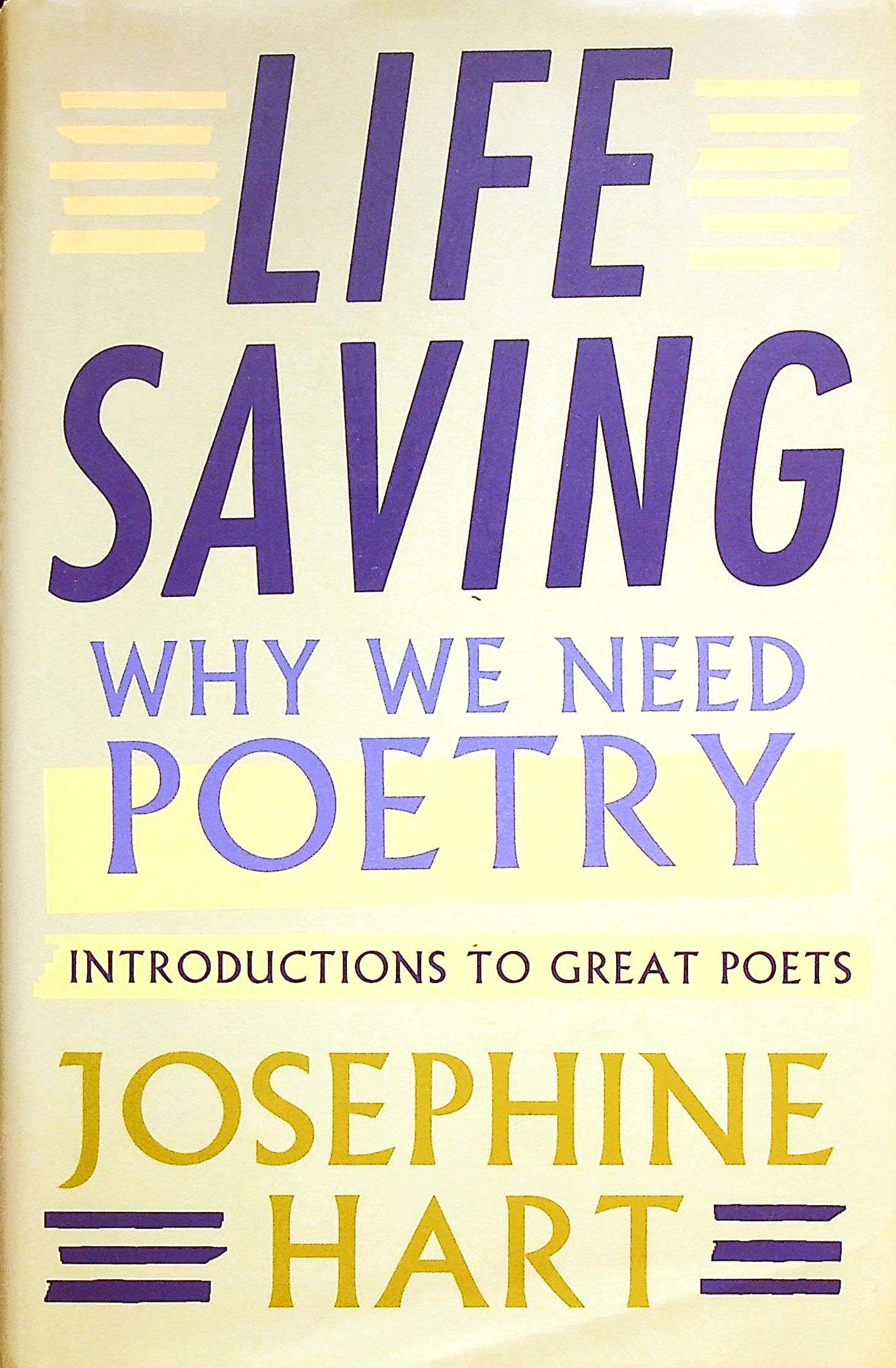Image for Life Saving: Why We Need Poetry - Introductions to Great Poets
