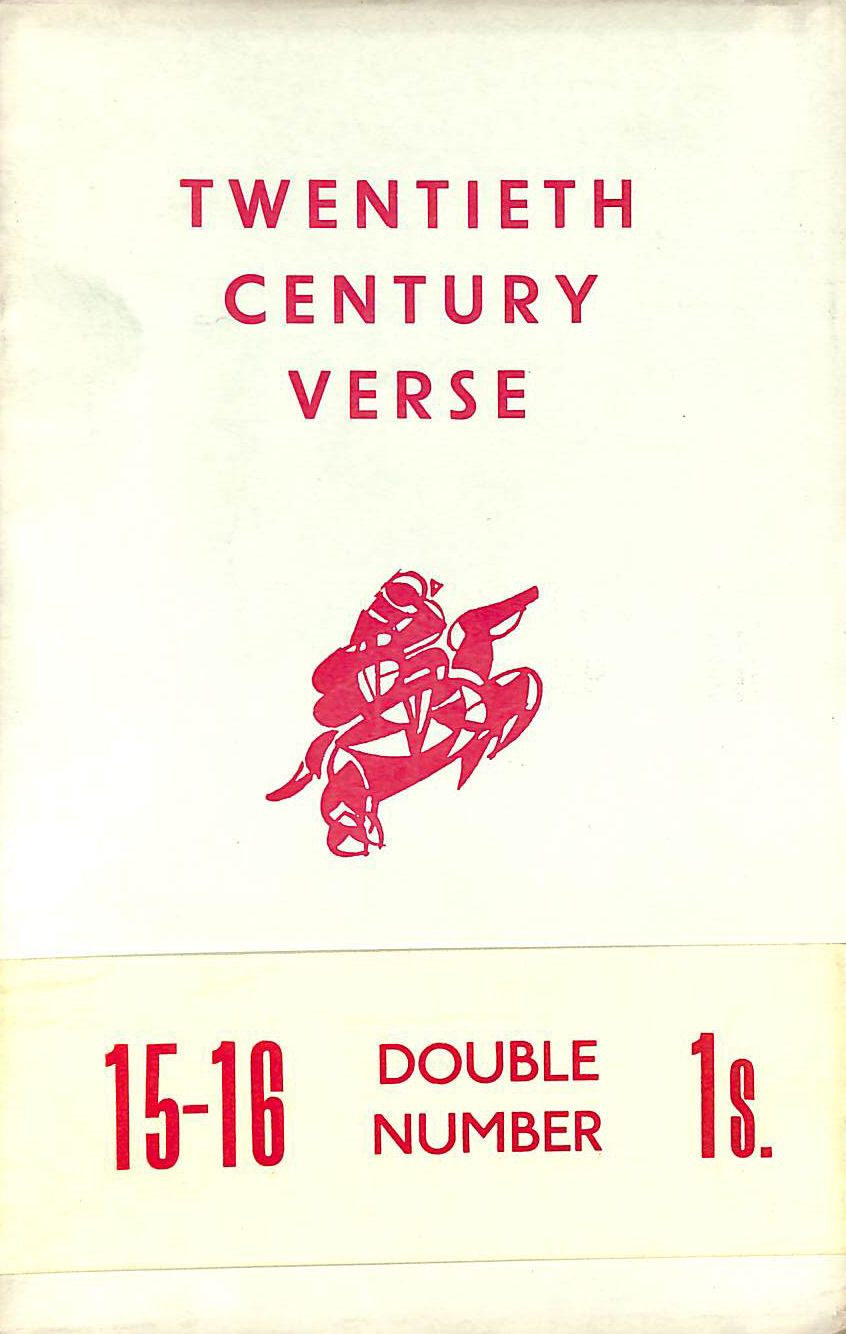 Image for Twentieth Century Verse, 15-16 Double Number February 1939