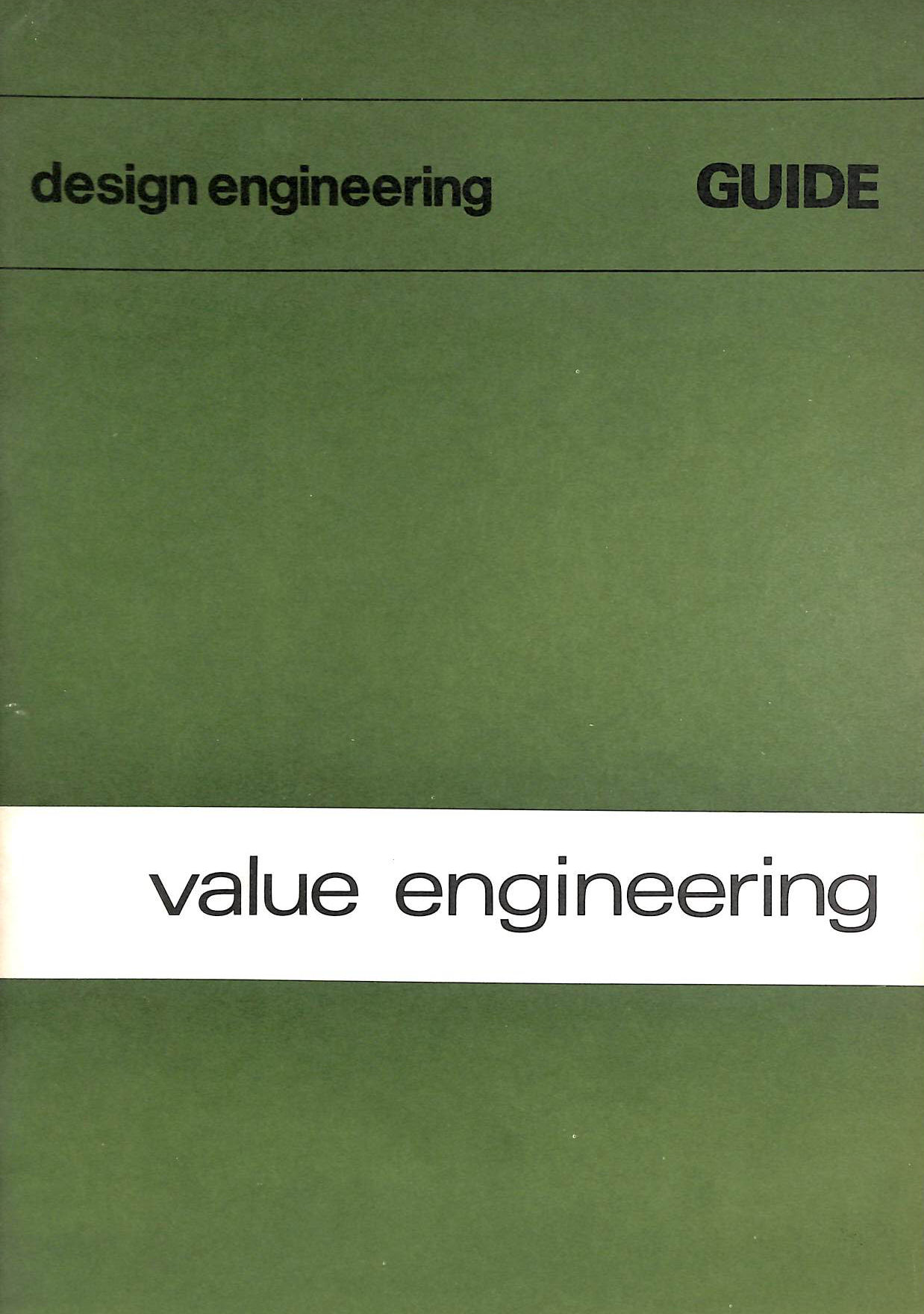 Image for Value engineering ('Design Engineering' Guides)