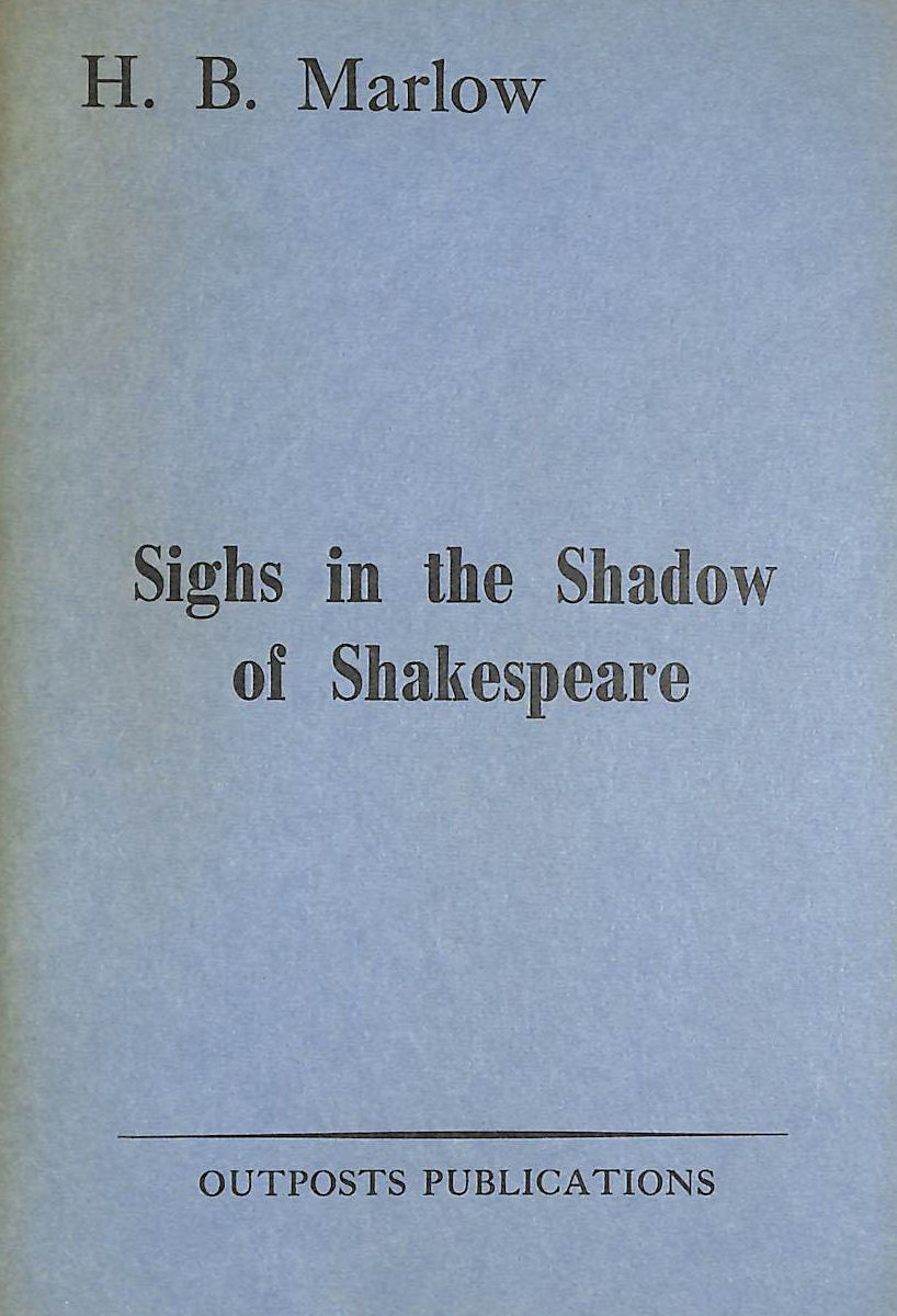 Image for Sighs in the Shadow of Shakespeare (Modern Poets S.)