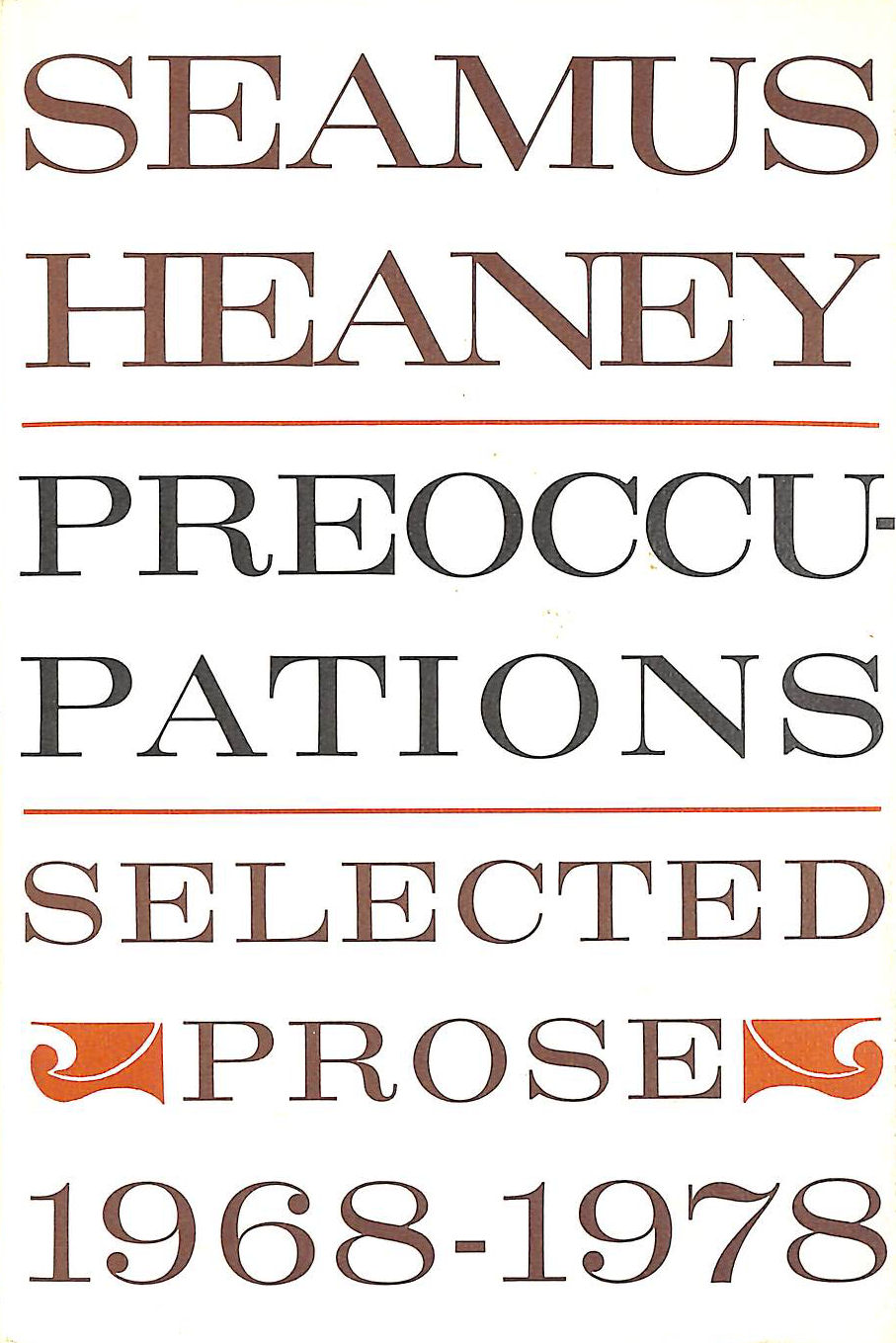 Image for Preoccupations: Selected Prose- 1968-1978