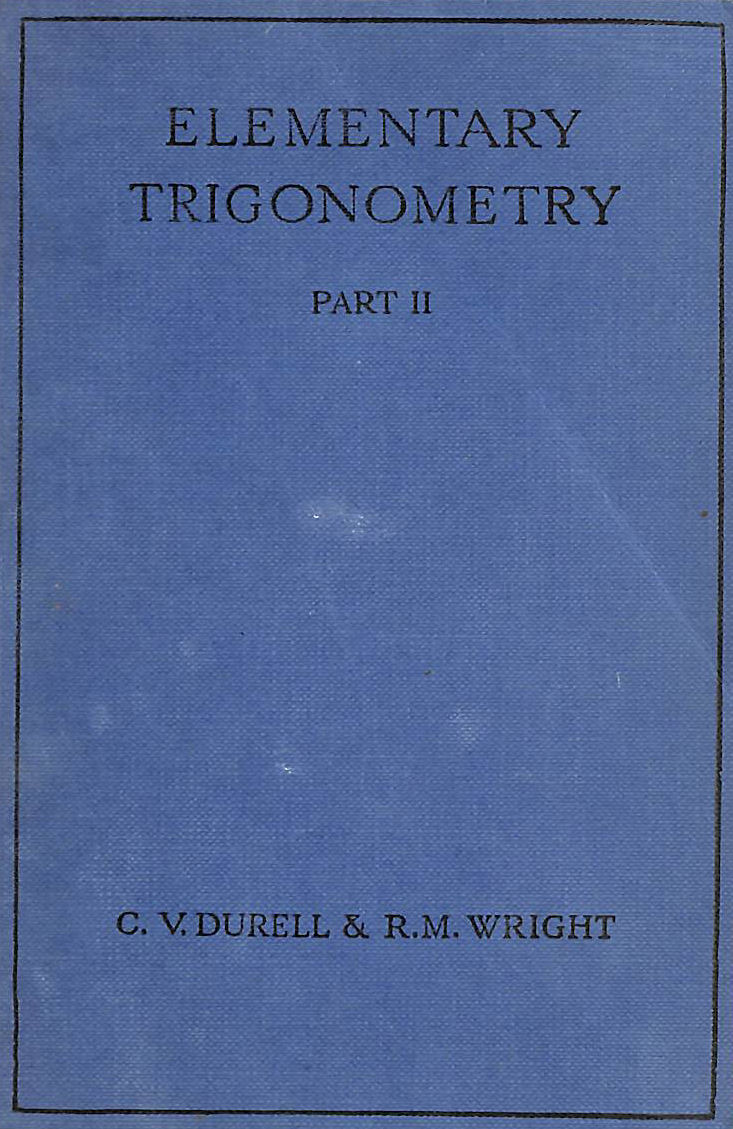 Image for Elementary Trigonometry Part II