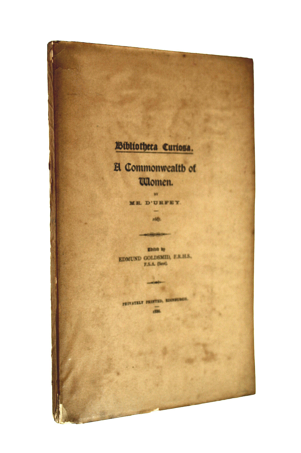 Image for A Commonwealth of Women (Bibliotheca Curiosa)