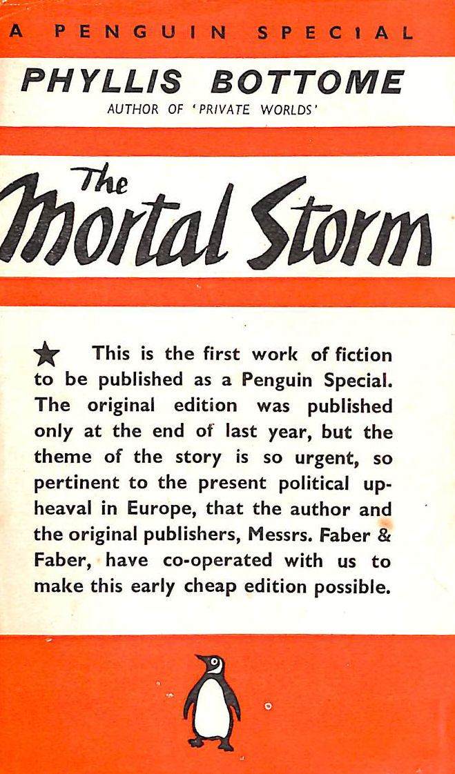 Image for The Mortal Storm. Penguin Special No S12