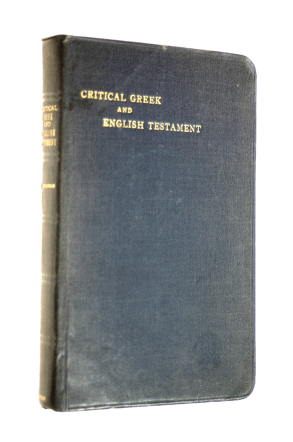 Image for A critical New Testament: Greek and English