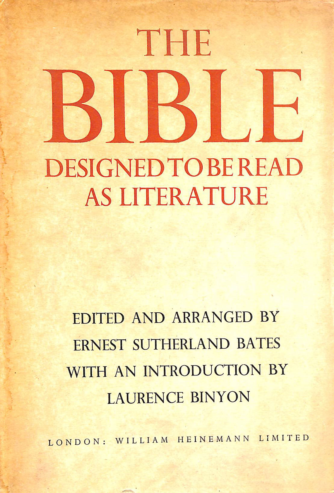 Image for The Bible Designed to be Read as Literature
